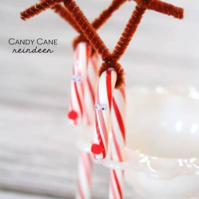 These Candy Cane Reindeer are super easy to make and perfect for classroom Christmas parties! via createcraftlove.com