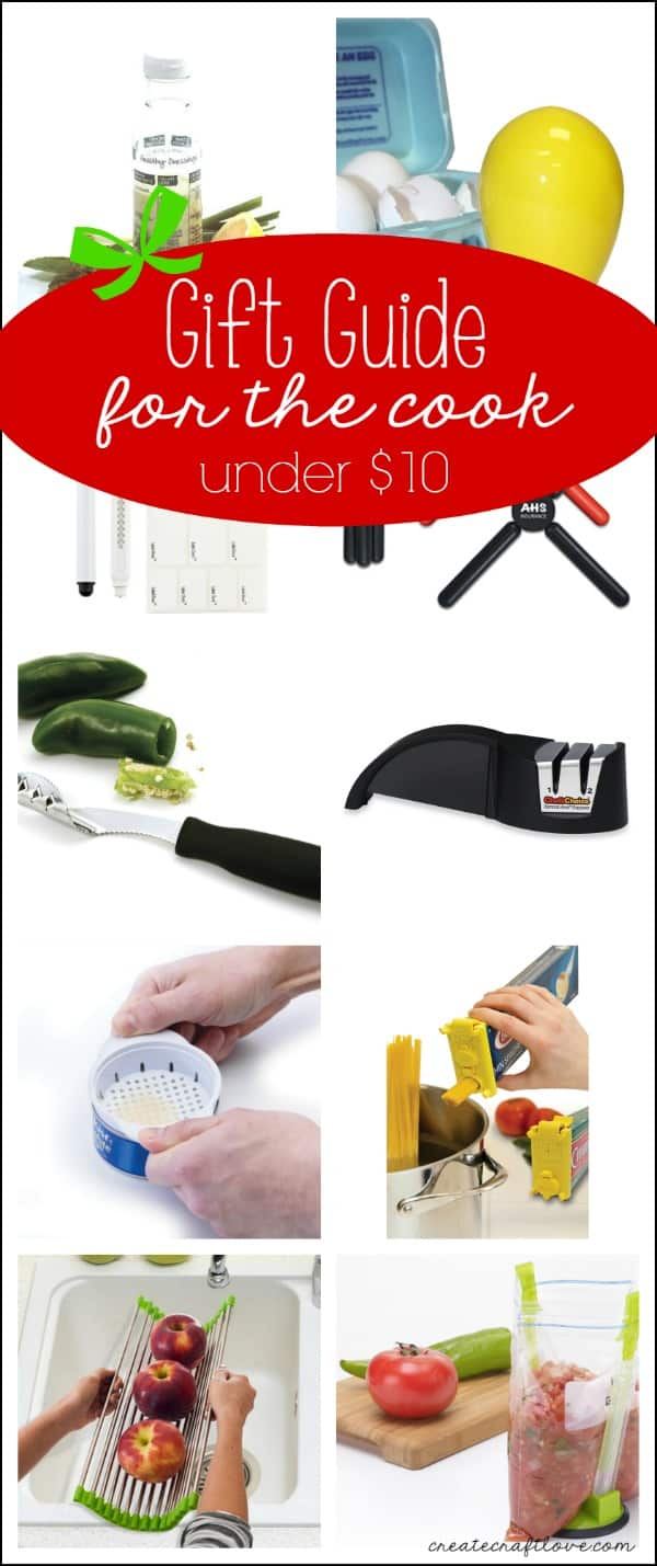This Gift Guide for the Cook will have him or her begging for more! via createcraftlove.com