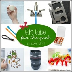 This Gift Guide for the Geek will leave them AND your pocketbook smiling! via createcraftlove.com