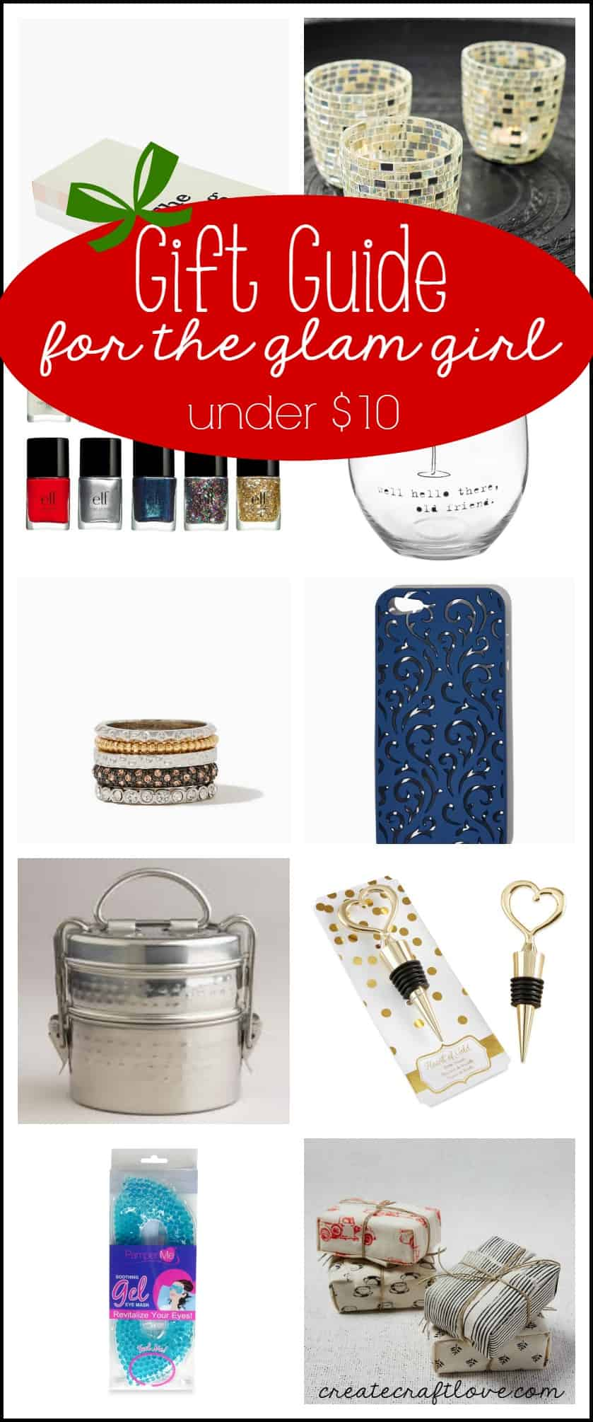 This Gift Guide for the Glam Girl will leave them feeling fabulous! via createcraftlove.com
