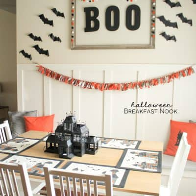 A little tour of my Halloween Breakfast Nook! via createcraftlove.com