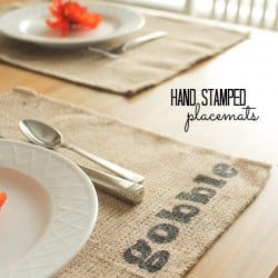 Add a little something extra to your table with these Hand Stamped Placemats! via createcraftlove.com