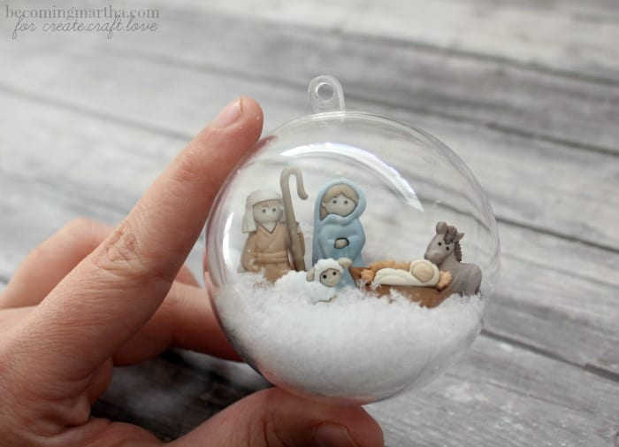 filled snow globe ornament