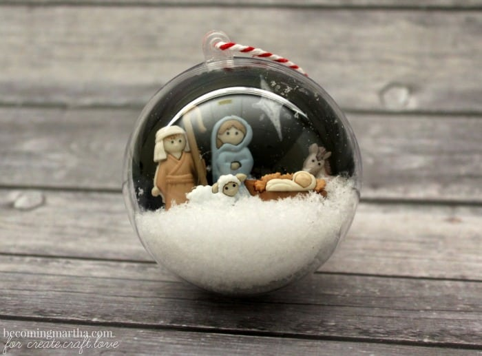 Nativity Scene Snow Globe Ornament