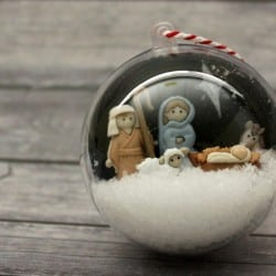 Nativity Scene Snow Globe Ornament