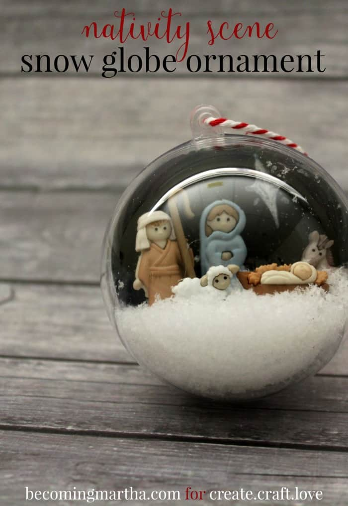 This Snow Globe Ornament will make a beautiful addition to your Christmas tree decor!