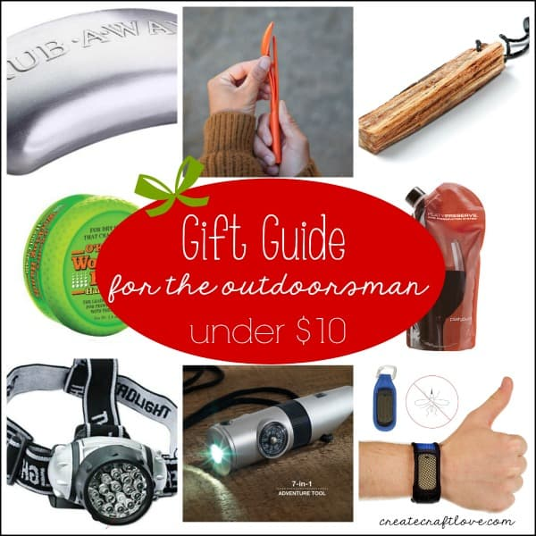 Gift Guide for the Outdoorsman for under $10! via createcraftlove.com