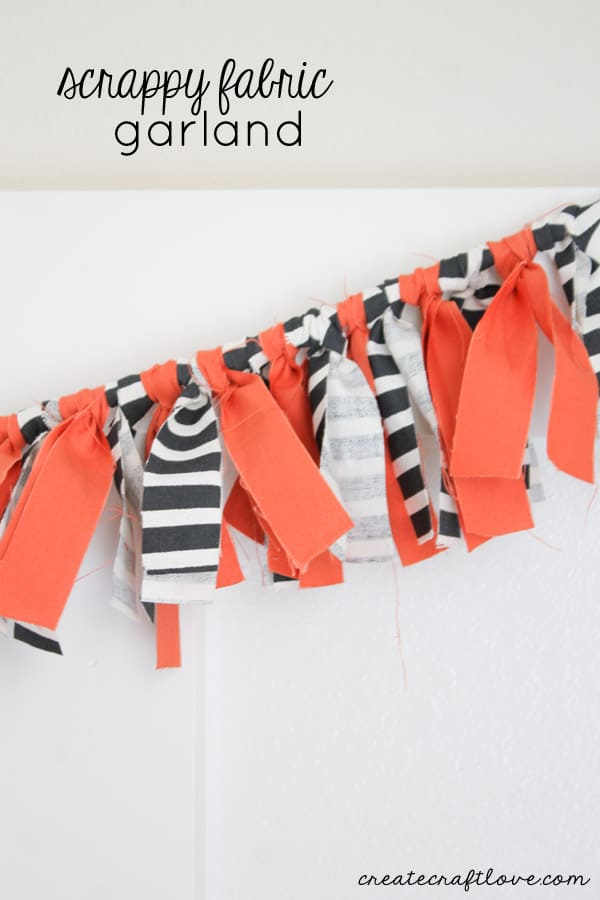 This Scrappy Fabric Garland can be customized for any holiday or occasion! via createcraftlove.com