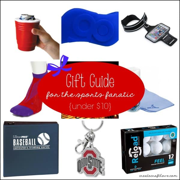 Gift Guide for the Sports Fanatic for less than $10! via createcraftlove.com