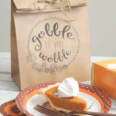 Send your guests home with these easy to make Thanksgiving Leftover Bags!
