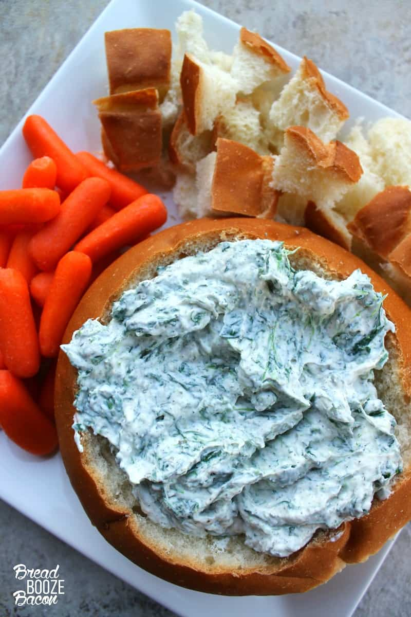 Homemade Spinach Dip is a must make around the holidays. Guests love it, so be sure to make a double batch!
