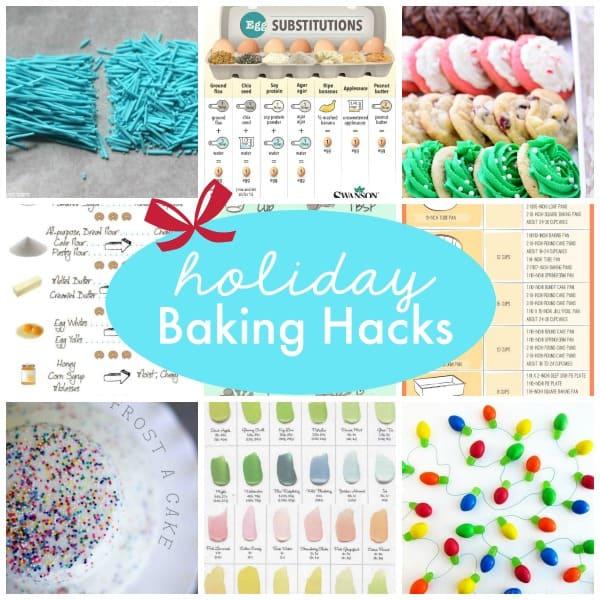 These Holiday Baking Hacks will help you master the holiday baking season! via createcraftlove.com