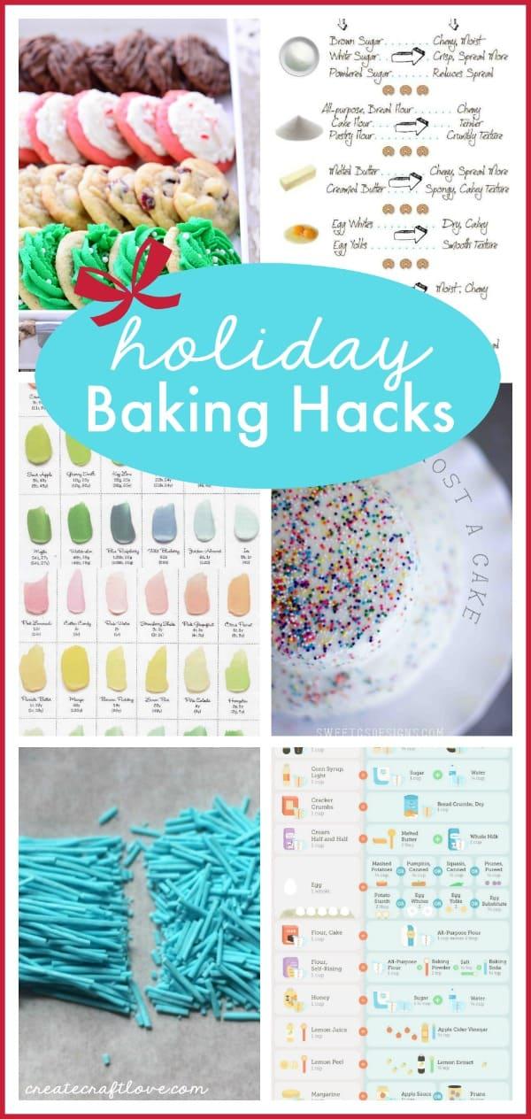 These Holiday Baking Hacks Will Help You Master The Holiday Baking Season!  Via Createcraftlove.