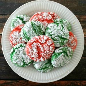 Cool Whip Christmas Crinkle Cookies | Bread Booze Bacon