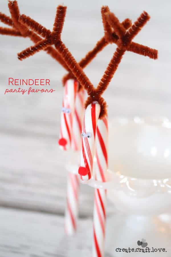 christmas craft party ideas reindeer favors 3589