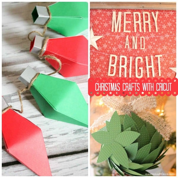 Top 3 Christmas Crafts with Cricut as seen on createcraftlove.com!