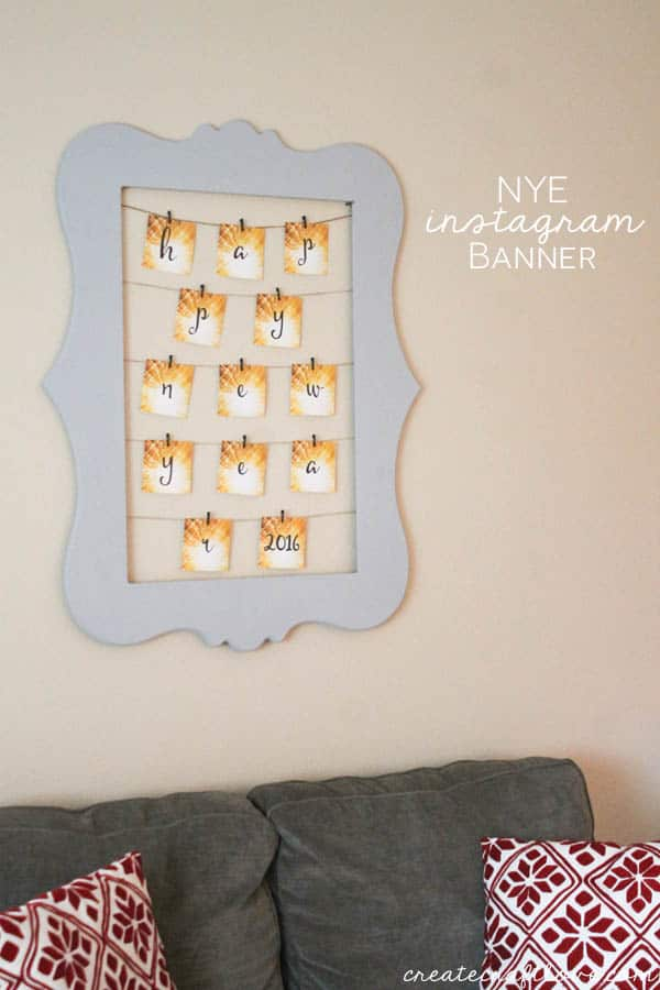 Easy NYE Instagram Banner and FREE download available at createcraftlove.com!