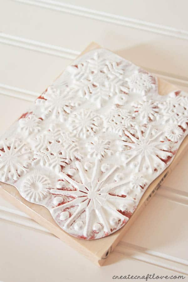 paint snowflake stamp