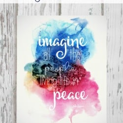I hope this Imagine Printable will hang in your house and heart as we try to remember to teach our children peace. via createcraftlove.com
