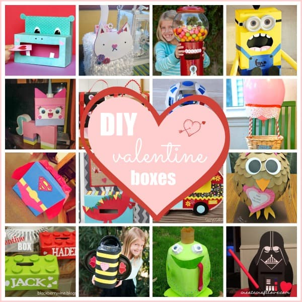 Looking for inspiration to make your kids' Valentine Boxes? We've got you covered. via createcraftlove.com