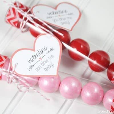 Valentine Bubblegum Printable