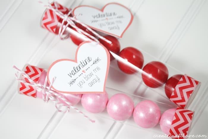 valentine bubblegum printable horizontal