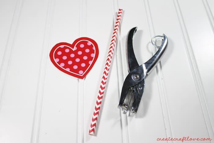 valentine straw topper 2