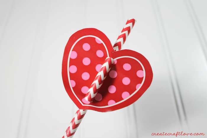 valentine straw topper 4