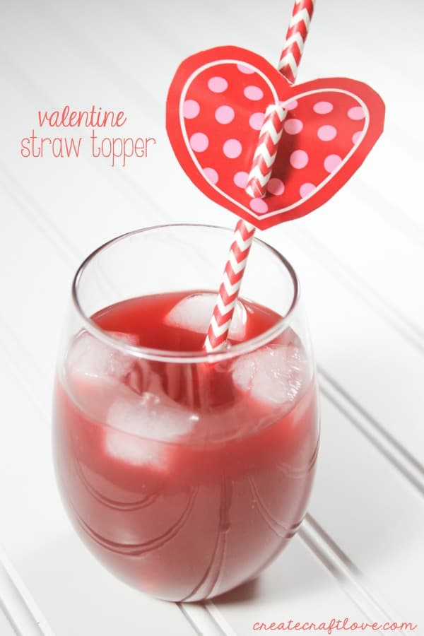 You will not believe what these Valentine Straw Toppers are made from! via createcraftlove.com