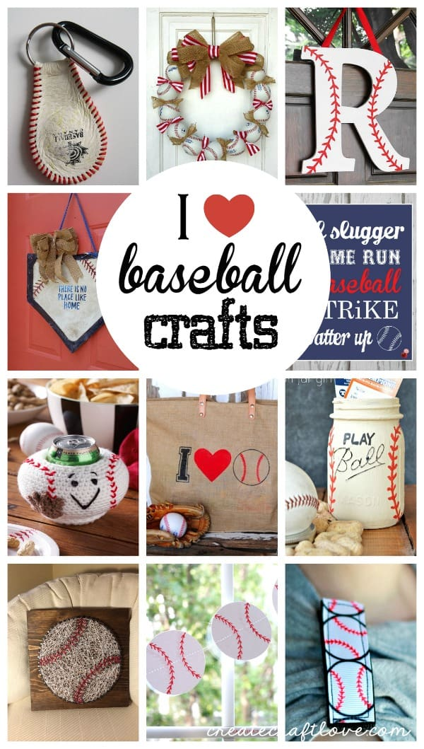 These Baseball Crafts are sure to hit one out of the park! via createcraftlove.com