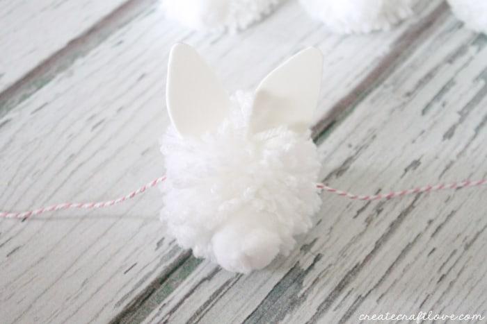 bunny pom pom garland 7