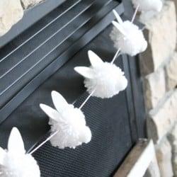 """Bunny Pom Pom Garland screams """"Hoppy"""" Easter! via createcraftlove.com"""