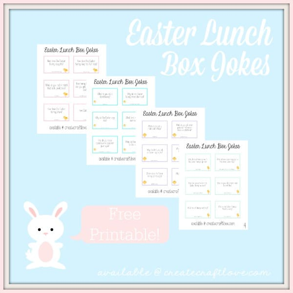 photo relating to Lunch Box Jokes Printable named Easter Lunch Box Jokes