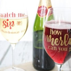 Whatever happens while drinking from these Girls Night Out Wine Glasses, stays with these Girls Night Out Wine Glasses. via createcraftlove.com