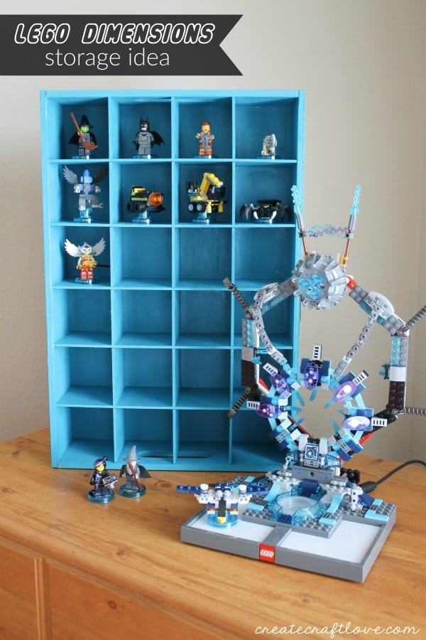 Organize some of the clutter with this Lego DImensions Storage Idea! via createcraftlove.com