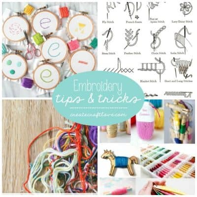 Here's my resource guide to Embroidery Tips and Tricks!
