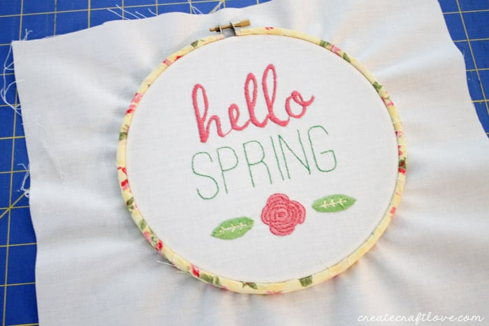 fabric wrapped embroidery hoop 7