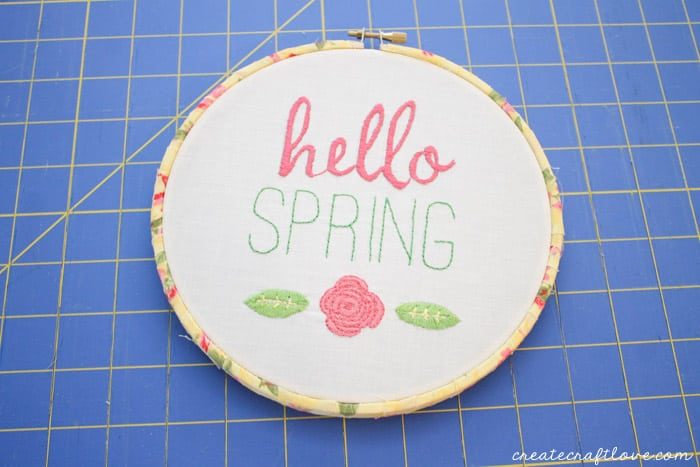 fabric wrapped embroidery hoop 9
