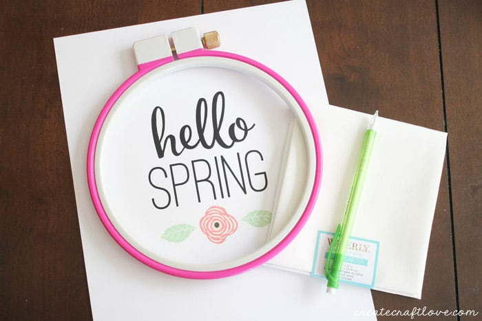 spring embroidery hoop art 1