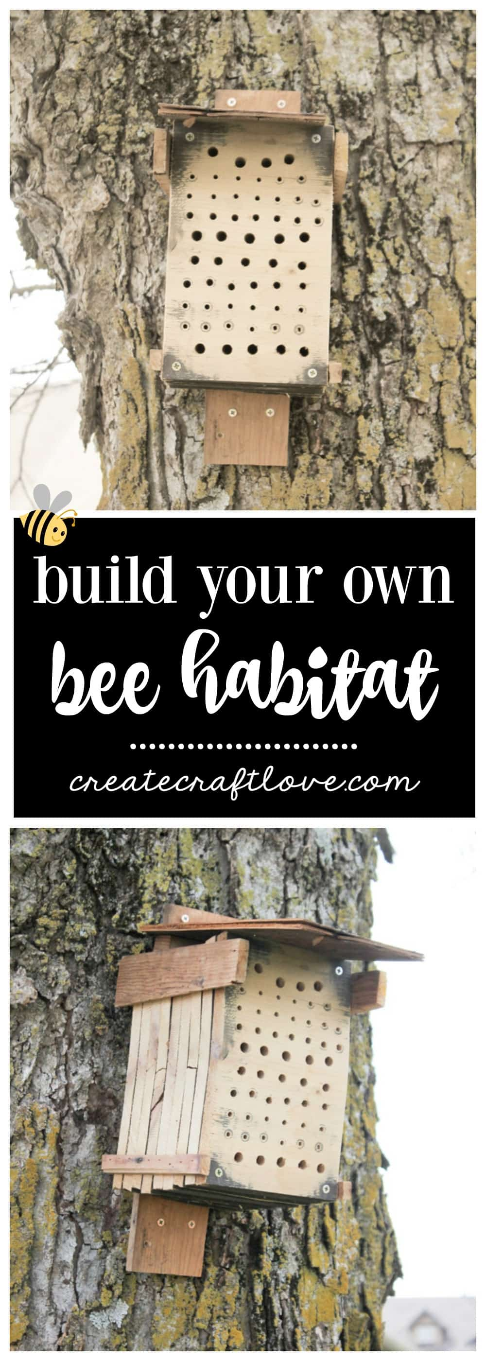 I'm sure many of you have heard about declining bee populations and the dreaded colony collapse syndrome, so even if you don't have a garden, this is a DIY Bee Habitat can help protect our native species.