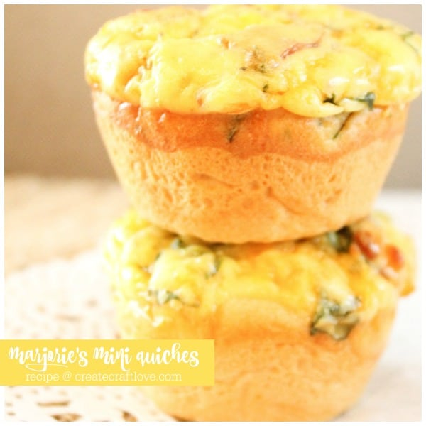 Marjorie's Mini Quiches are the perfect make ahead breakfast for potlucks and busy weeks!