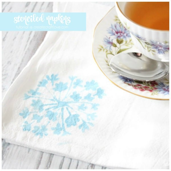 stenciled napkins create craft love