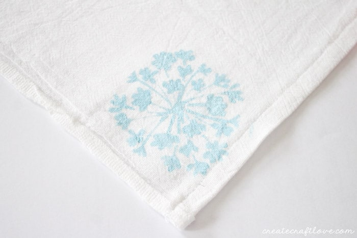stenciled tea towels 5