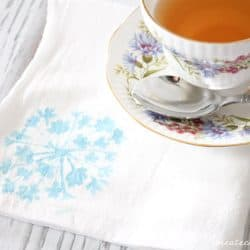 stenciled tea towels horizontal