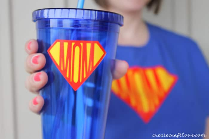 superhero shirt with cup
