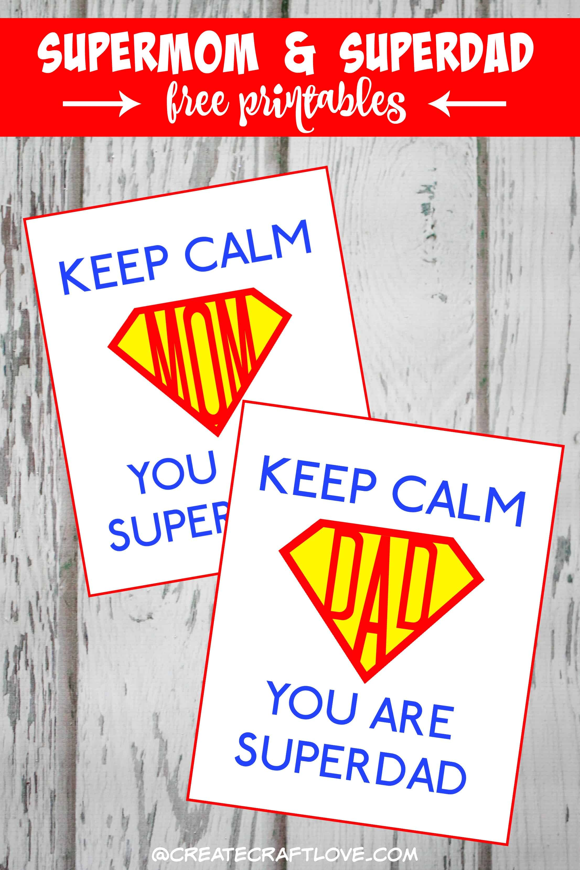 supermom and dad printable beauty