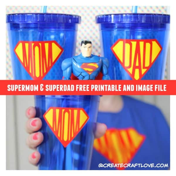 Help them honor their favorite superhero with this Supermom and Superdad Gift Idea and Printable!