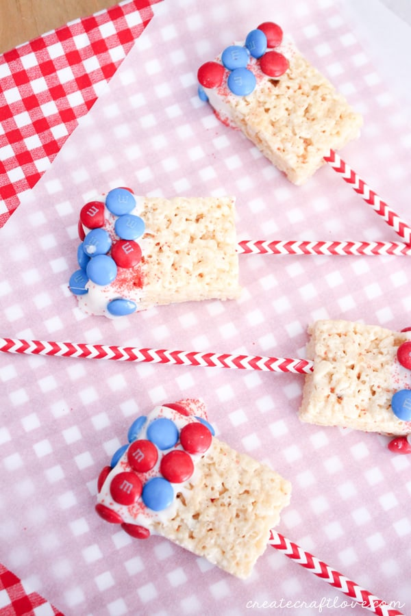 easy 4th of july treat gingham