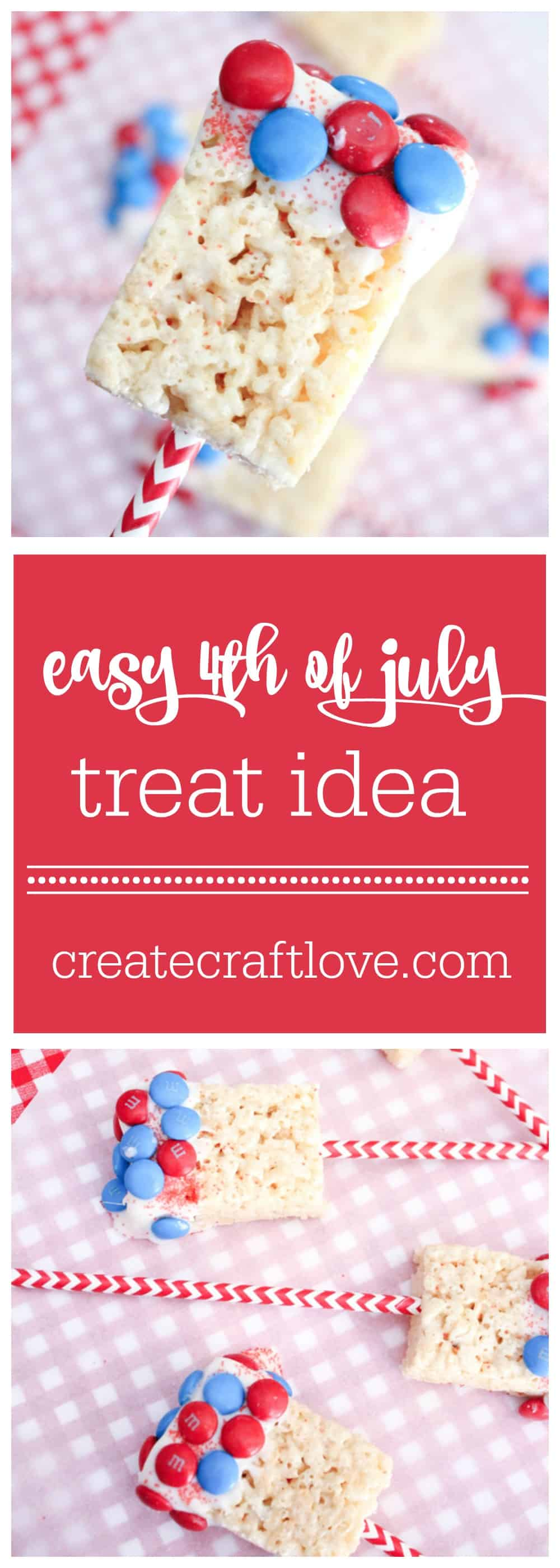 This Easy 4th of July Treat will take you 5 minutes to make! via createcraftlove.com