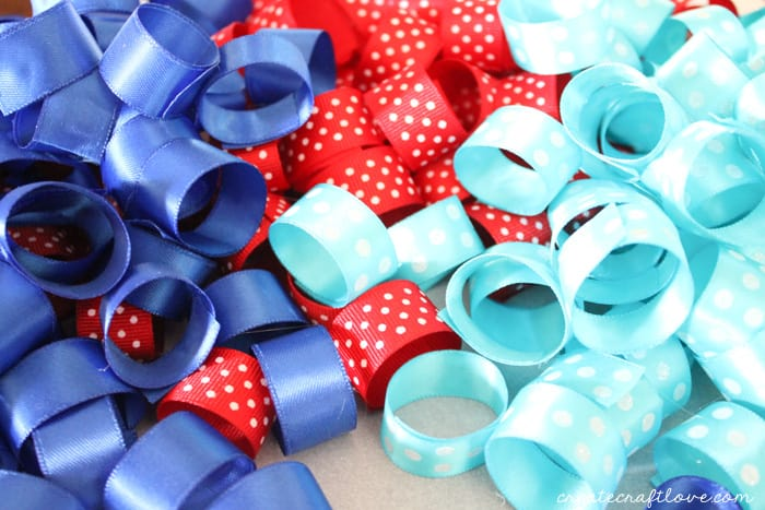 4th of july ribbon wreath 3